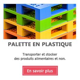 Palette plastique, palette perdue et dimension palette