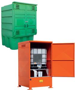 Boxes de stockage pour cuves avec rétention
