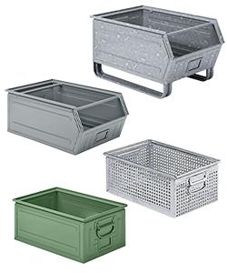 Caisses métalliques et bacs en métal