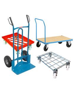 Chariot de transport et chariot a roulette