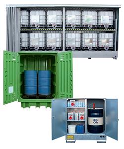 Conteneurs et boxes de stockage en acier et polyéthylène