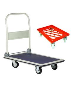 Plateau roulant et chariot roulant