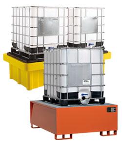 Bacs de rétention produits chimiques pour cuves