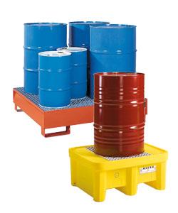 Bacs de rétention produits chimiques pour fûts