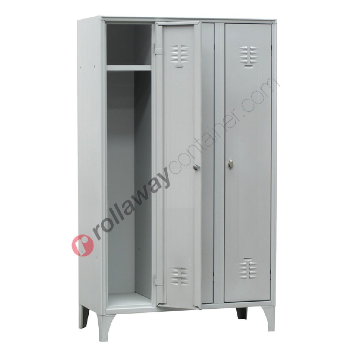 Armoire Gain De Place armoire vestiare gain de place en métal 3 portes avec