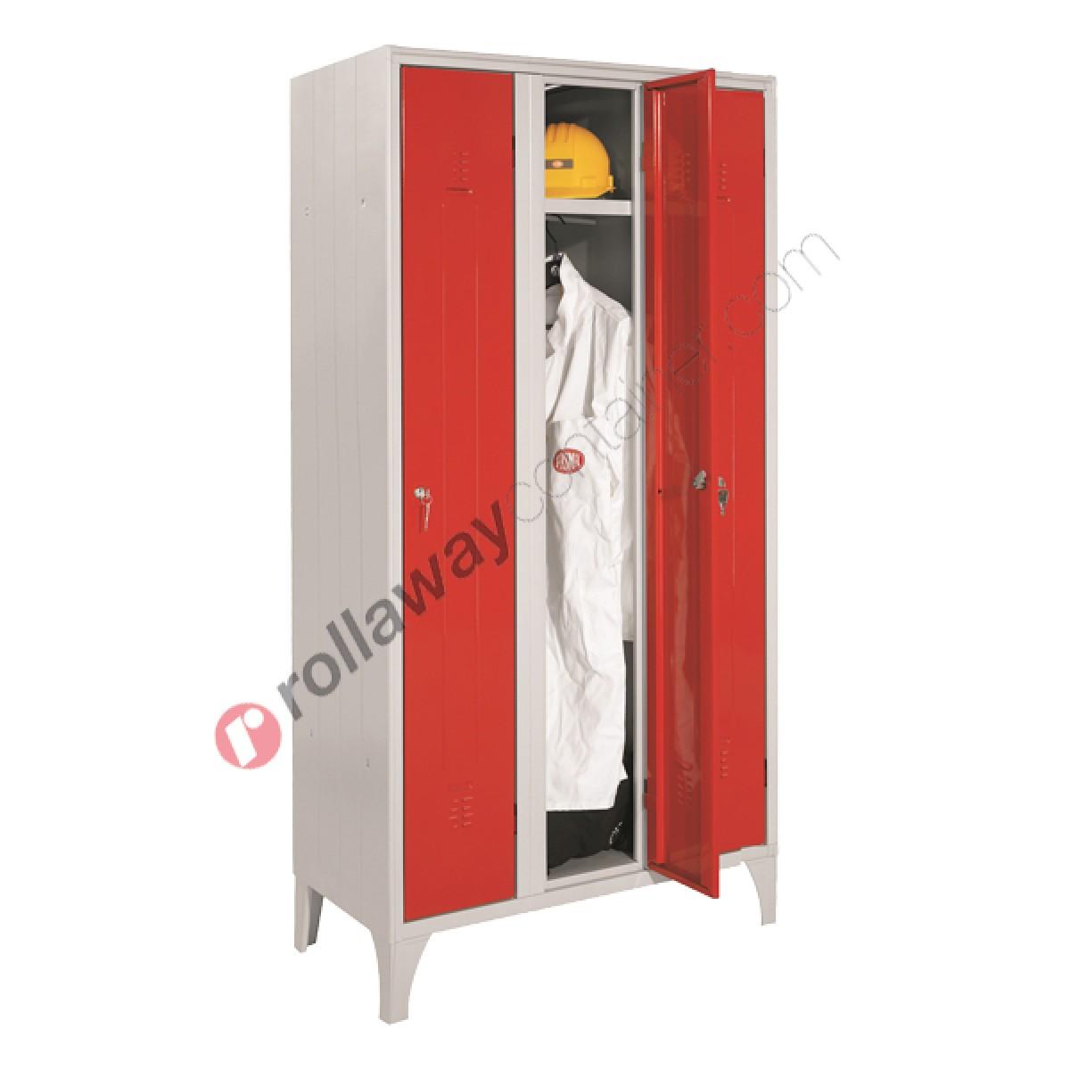 Armoire Gain De Place armoire vestiare gain de place en métal 4 portes avec
