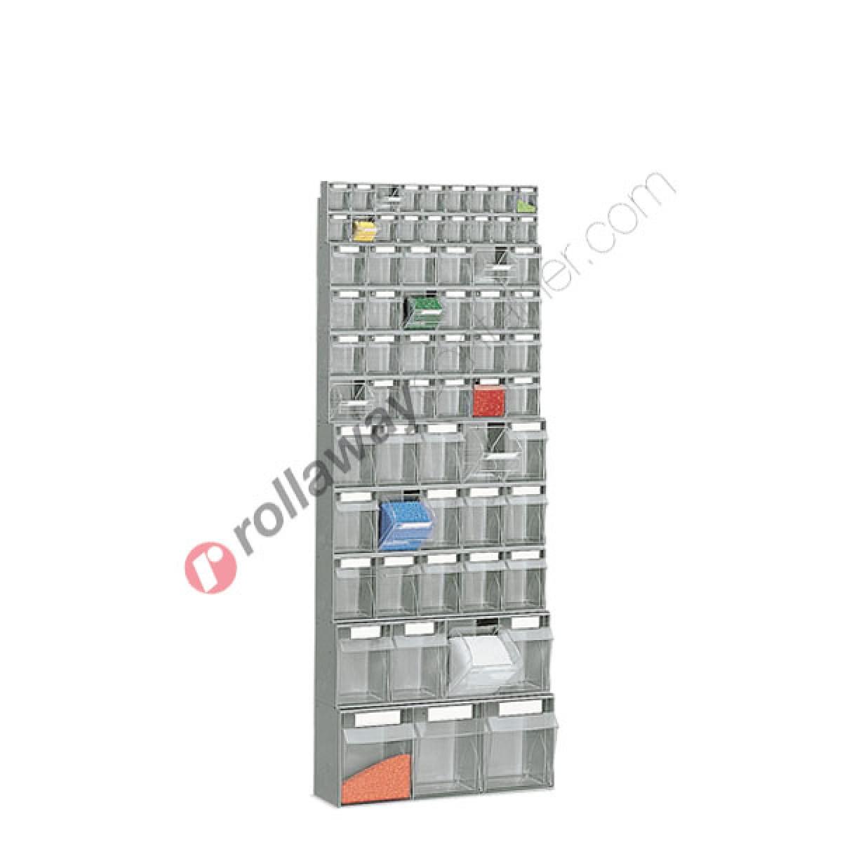Rayonnage Pour Rangement Visserie 600 X 224 H 1540 Mm Avec 64 Tiroirs