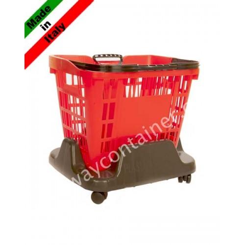 socle roulette pour panier libre service 33l panier a roulette 45l. Black Bedroom Furniture Sets. Home Design Ideas