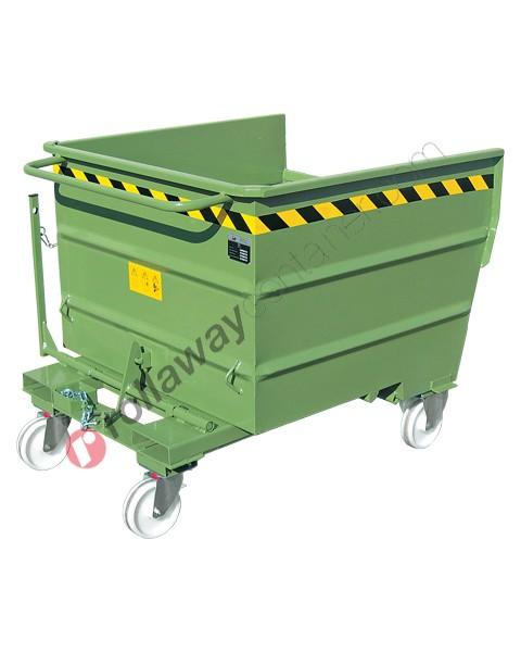 Benne basculante pour chariot élévateur à 4 roues capacité 1000-1350-1700 kg