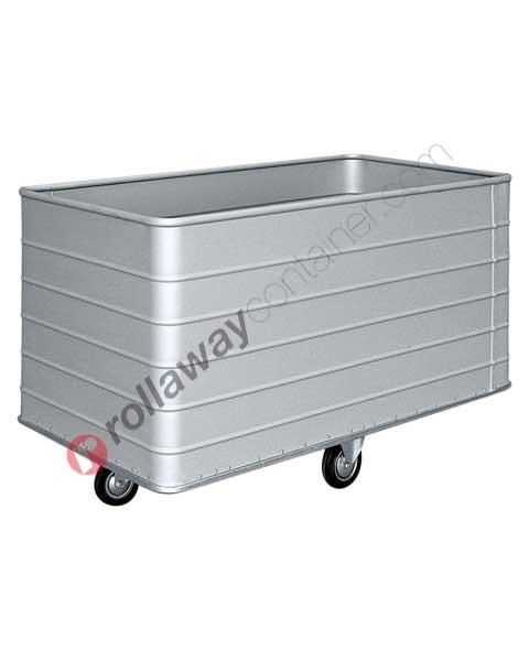 Chariot à linge en aluminium pour blanchisserie