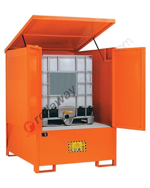 Box de rétention en acier peint 1350 x 1660 x 1900 mm