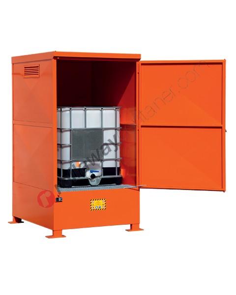 Box de rétention en acier peint 1350 x 1660 x 2535 mm