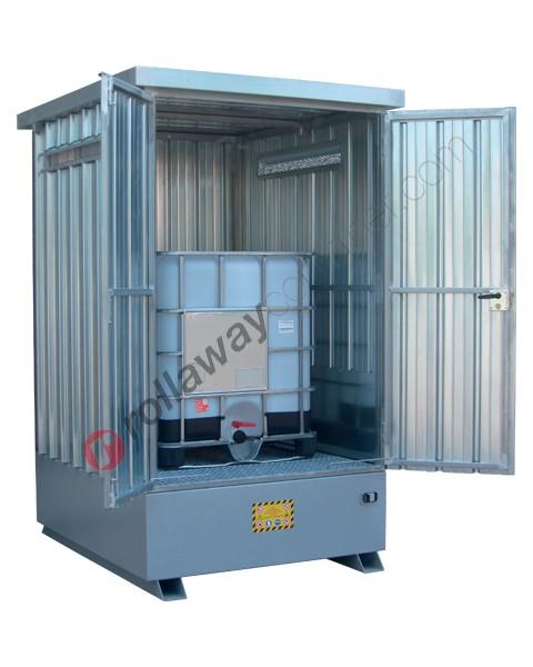Box de rétention en acier galvanisé 1870 x 1560 x 2590 mm