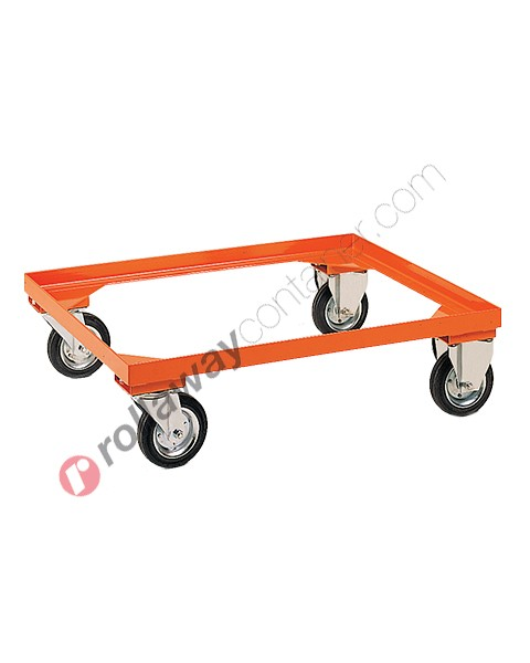 Châssis avec roues pour la manutention de caisses palettes métalliques