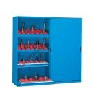 Armoire rangement outils 2046x600 H 2000 mm 2 portes glissant