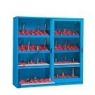 Armoire rangement outils 2046x600 H 2000 mm 2 portes glissant en polycarbonate