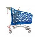 Chariot supermarché en plastique et métal Super Hybrid 180 litres