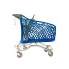 Chariot supermarché en plastique et métal 180 litres