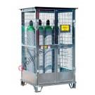 Box de stockage de bouteilles de gaz en acier galvanisé avec base