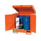 Box de rétention en acier peint 1350 x 1260 x 1540 mm pour substances inflammables