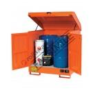 Box de rétention en acier peint 1350 x 860 x 1570 mm pour substances inflammables