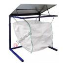 Support big bag de 1000 litres avec structure tubulaire et couvercle en acier