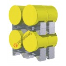 Support de fûts empilable horizontal en acier mm 1258 x 1050 H 340 pour 2 fûts de 200 litres
