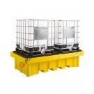 Bac de rétention plastique 1150 l pour cuves avec grille 2540 x 1370 x 650 mm