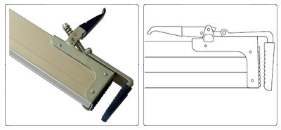 Accessoires poutre d'arrimage télescopique en aluminium de 2,40 m à 2,70 m