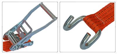 Accessoires sangle à cliquet 50 mm et crochet bord de rive